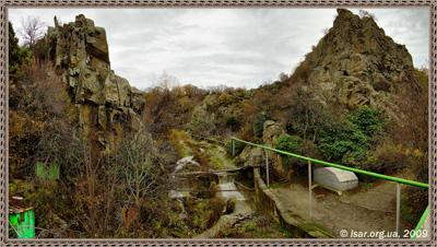 Скалы Алигор и река Партенитка