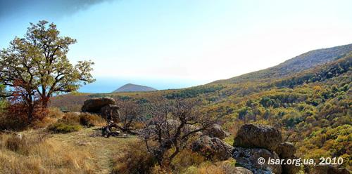 Вид на гору Кастель