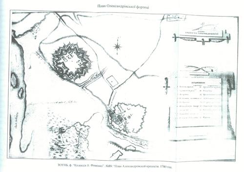 План старой и новой крепостей
