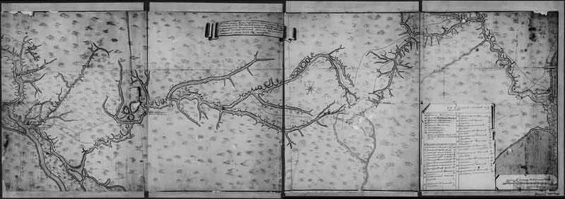 Карта Днепровской линии 1776 года
